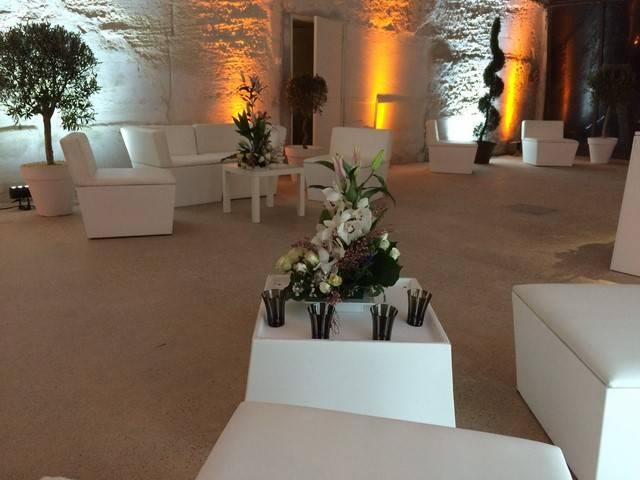 D corations florales pour buffets traiteurs bar tables for Decoration professionnelle