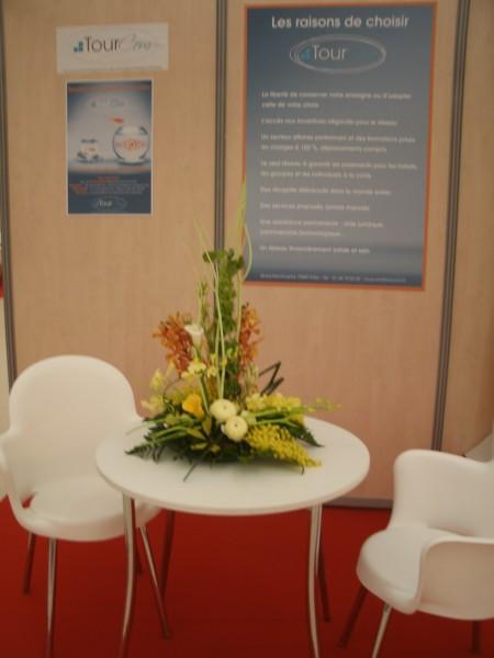 D coration florale pour stand exposition de salon avignon for Salon avignon