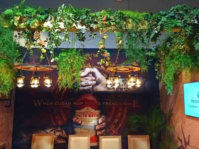 plafond de plantes artificielles pour salon exposition