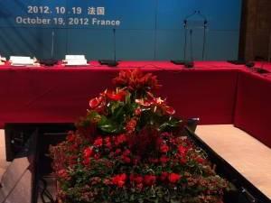centre floral de table de conférence Avignon
