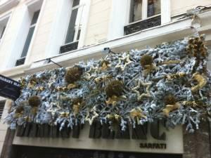 Décoration de noël pour un bijoutier à Marseille 13001