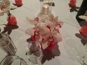centre de table mariage composition florale pour réception événement gala réception  St Cyr Sur Mer La Ciotat