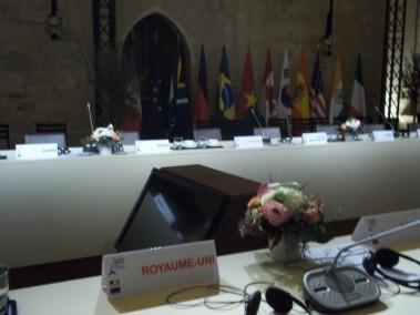 Sommet des ministres de la Culture G8-G20  - Forum d'Avignon Palais des Papes